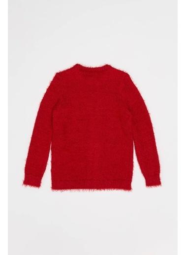 DeFacto Kız Çocuk Düğmeli Triko Hırka Kırmızı